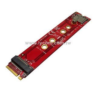 NVME Adapter Card M.2 to PCI-E 3.0 1X Extension M Key NGFF Converter Card Module